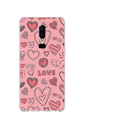 Carcasa para OnePlus 1+, diseño de corazón de silicona para OnePlus 1+ One Plus 8 7T 7 Pro 6T 6 5T 5-B720 (7)-OnePlus 8
