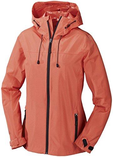 CRIVIT® Damen Trekkingjacke, wasserdicht (Gr. 40, orange)
