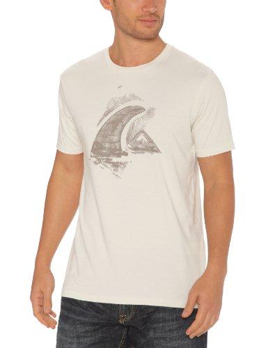 Quiksilver KPMJE95214 SS Nomad Organic - Camiseta de Manga Corta para Hombre Gris Plata Talla:Medium