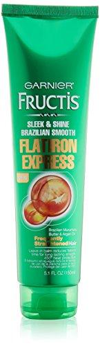 Garnier Hair Care Fructis Brazilian Smooth Flatirion Express, Difficult to Straighten Hair, 5.1 Fluid Ounce