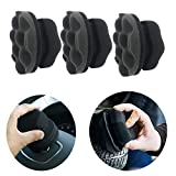 2pcs Tire Dressing Applicator, Tire Shine Applicator Dressing Pad with Hex Grip Design, Reusable Tire Cleaner Sponge for Tire Detailing.