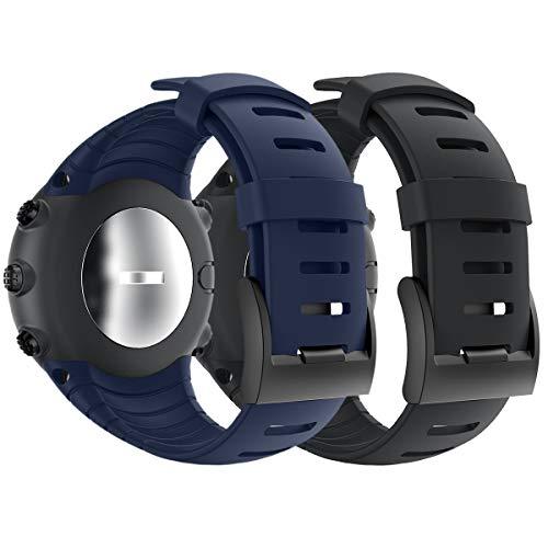 YPSNH Compatible para Cinturino Suunto Core Braccialetto di Ricambio in Silicone Sportivo Unisex per Suunto Core Smart Watch