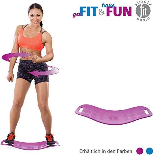 Mediashop Simply Fit Board | Fitnessgerät | Balance Board | Fitness | Twist-Board | verbessertes Gleichgewicht, Koordination, Stabilität | Das Original aus dem TV (Magenta)