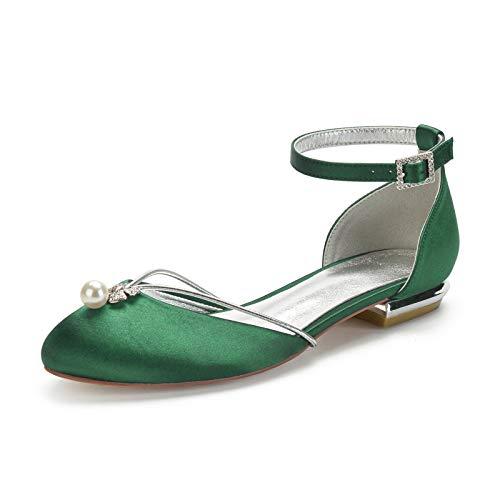 Charmstep Bailarinas Zapatos De Boda para Mujer Plana Punta Cerrada Correa De...