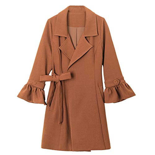 Groene geruite lente en herfst bovenkleding riem dun Trench jas slank lange jas bovenkleding