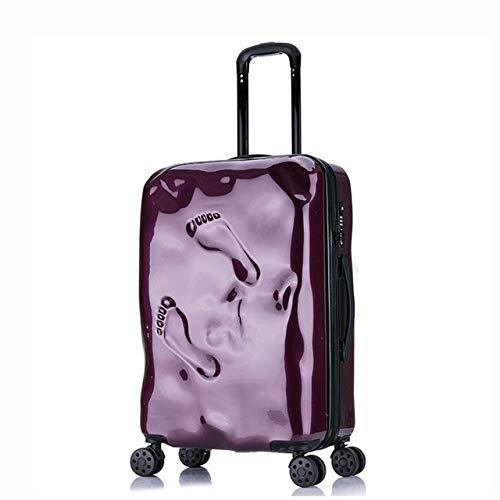 Mdsfe NuevoEquipaje rodante con Marco de Aluminio de20''24'Pulgadas, Maleta con Ruedas de Moda para niños y Mujeres, Equipaje rígido de Viaje con Bloqueo TSA, 24 púrpura