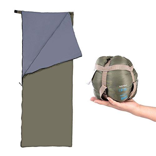 Lixada Busta Sacco a Pelo di All'aperto Campeggio Viaggi Escursionismo Multifunzionale Ultraleggero 190*75cm