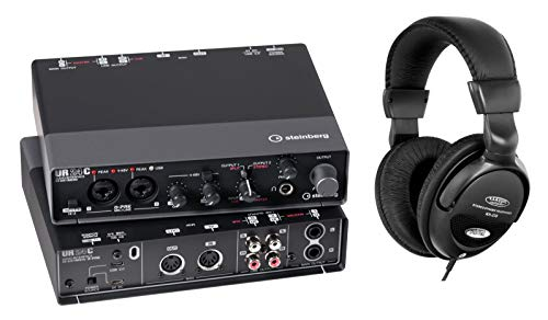 Steinberg UR24C USB Audio Interface Set (UR24C USB 3.0 Audio-Interface mit Cubase Software Paket inkl. Kopfhörer)