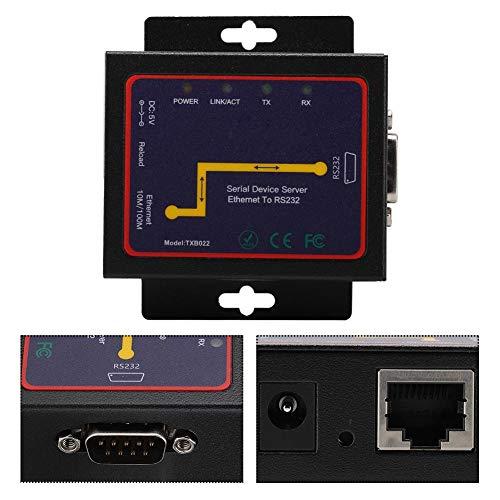 Wosune Computadoras Hardware de Red, convertidor enchufable, RJ45 a RS232 Monitoreo de Bucle Inteligente Duradero(European regulations)