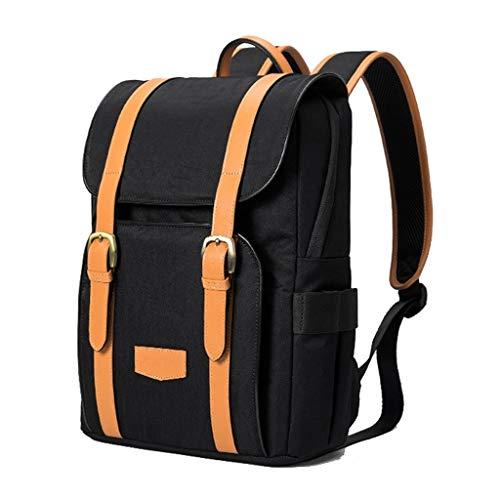 Laptop Bag Laptop Backpack Men and Women Portable Laptop Bag Large Capacity Double-Layer Travel Backpack for 13.3-inch Laptop Messenger & Shoulder Bags (Color : Black)