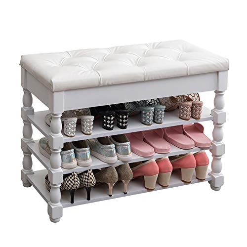 Mesa de Trabajo Entrada de banco de almacenamiento de zapatos de madera con banco de almacenamiento para dormitorio, sala de estar, pasillo, garaje zapato banquillo Sala de Estar del Pasillo de Entrad
