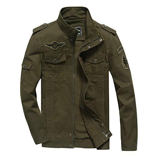Men's Outdoor Jacket Winter Coat With Men's cotton casual jacket-green_XXXL