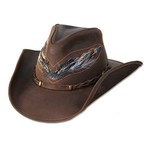 STARS & STRIPES Sombrero Cowboy de Cuero Nobuck Outback
