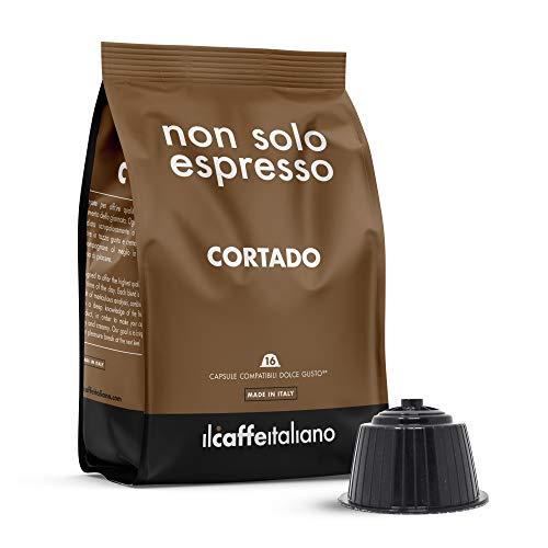 FRHOME - 48 cápsulas compatibles Nescafé Dolce Gusto - Cortado - Il Caffè italiano