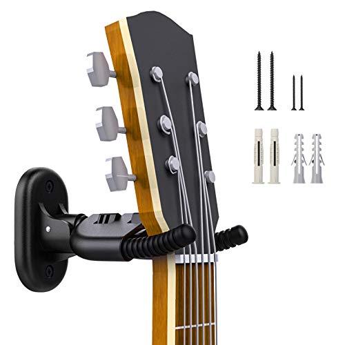 Moko Soporte Plegable Pared Guitarra, Colgador de Guitarra Eléctrica Acustica Ajustable para...