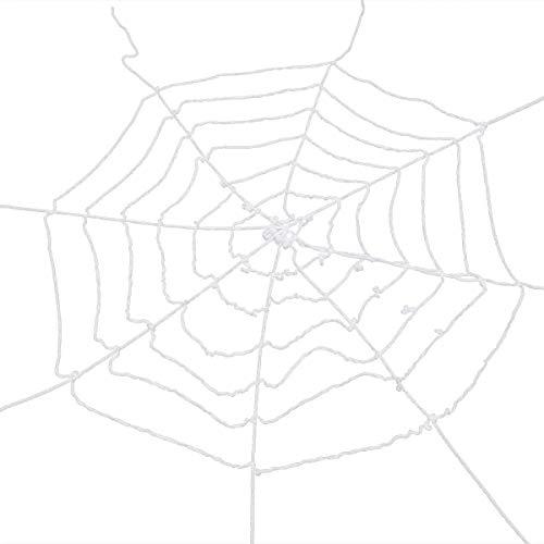 BESTOYARD Halloween Spinne Web Dekoration Wiederverwendbare dehnbar Spinnen Web Gurtband Halloween Gejagte Haus Garten Dekorationen Requisiten (weiße Spinnennetz)