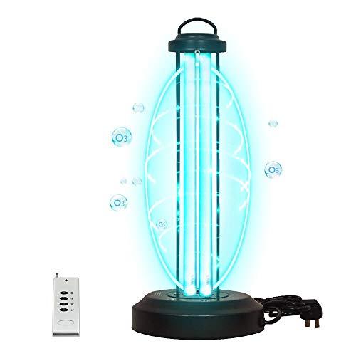 WTL Kompaktleuchtstofflampen, 38 W, 220 V, Ozon-Haushalts-Luftreiniger, UVC, keimtötende Lampe, Desinfektion mit Fernbedienung und Timer-Funktion, für 40 m² Fläche, Schule, Hotel, Fabrik