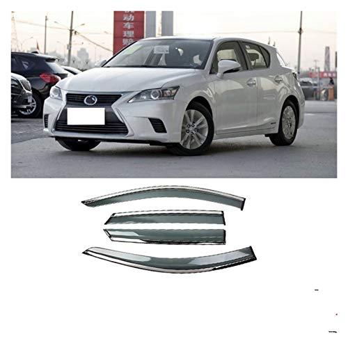 Deflectores de Viento para Nissan NV200 2010-2016 Ventana de plástico Venta de Ventas de Ventas Sun Rain Deflector Guard Styling Cortavientos para ventanilla (Color : Claro)