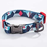 Collar para perro Everking, ajustable, moderno, multicolor, para perros grandes, medianos y pequeños, transpirable Collar para perros de nailon.