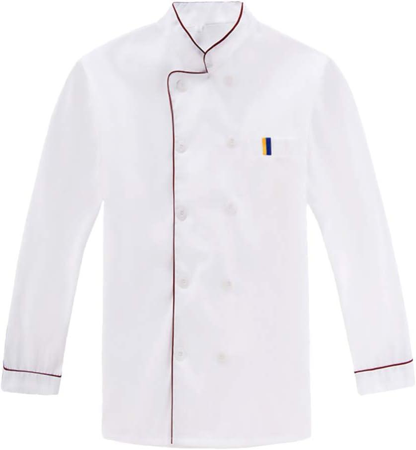 Cabilock Chef Coat Unisex Long Max 76% OFF Restaurant Sleeve C Memphis Mall Kitchen Hotel