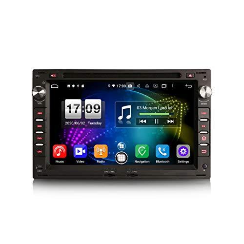 ERISIN 7 Zoll Android 10.0 Autoradio für VW Golf Passat T5 Multivan Polo Peugeot 307 Seat Toledo Ibiza Unterstützt GPS-Navi Carplay Android Auto DSP Bluetooth A2DP WiFi DAB+ 8-Kern 4GB RAM+64GB ROM