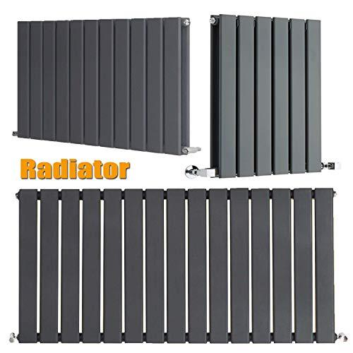Verticale Flat Panel Kolom Ontwerper Radiator Moderne Centrale Verwarming Ruimtebesparende Radiatoren Perfect voor Badkamers, Keuken, Hal, Woonkamer - 600x408mm, Antraciet 600 * 1428mm,single Grijs