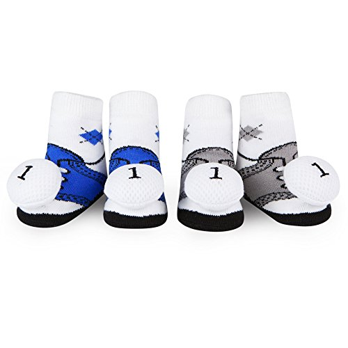 WADDLE Cute Golf Shoes Baby Socks For Boys Golf Ball Plush Rattle Newborn Gift Pack 0-12 Months