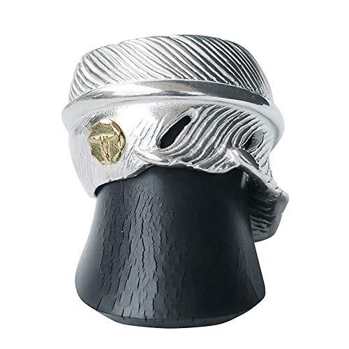TADY&KING タディアンドキング goro's ゴローズ 魂継承 シルバー925 指輪 メンズ レディース フェザー リング 指輪 シルバー シルバー リング ペアリング シルバー アクセサリーレジスト原宿 フェザーリングSV GPロングホーン (1