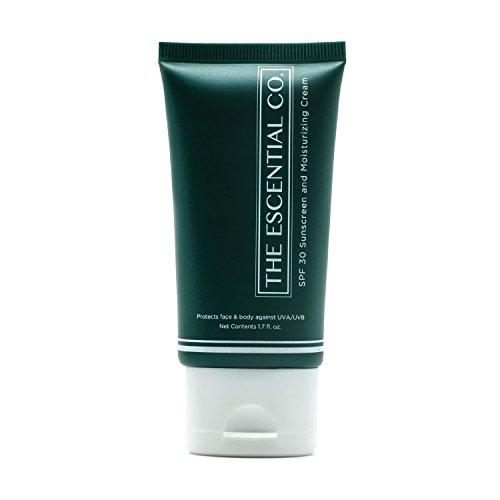 Sonnencreme LSF 30 mit verbesserter Formel – Sonnenschutz für Körper und Gesicht, unreine, Akne neigende und empfindliche Haut – The Escential Co.