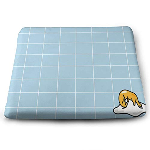 Roupaze Solid Square Seat Cushion Gudetama Poster Chair Cushion Tatami Floor Cushion,Used for Meditation in Living Room Balcony Office Outdoor