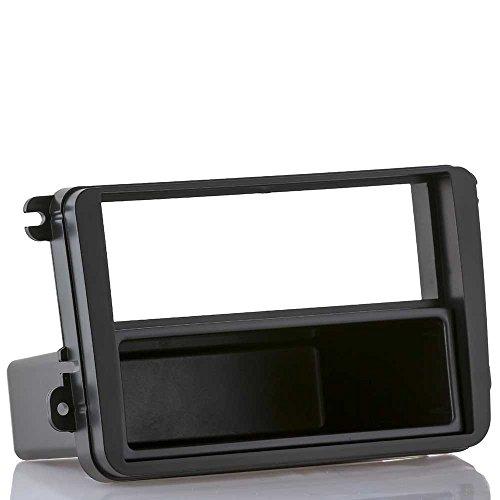 meins24 ohg Radioblende passend für VW Golf 5 6 Passat EOS + Skoda + SEAT (Radioblende inkl. Ablagefach (ca. 10cm tief))