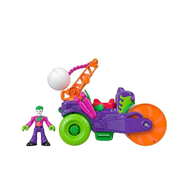 Imaginext DC Super Friends El Joker Vehículo Apisonador, Figuras de Acción de Héroes y Villanos (Mattel GKJ23) 3