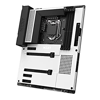 NZXT N7 Z490 - N7-Z49XT-W1 - Intel Z490 Chipset  Supports 10th Gen CPUs  - ATX Gaming Motherboard - Integrated I/O Shield - Intel Wireless-AX 200 - Bluetooth V5.1 - White