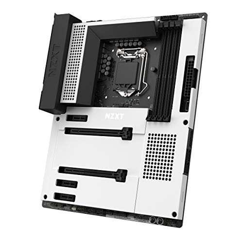 NZXT N7 Z390 - N7-Z39XT-W1 - Intel Z390 chipset (Supports 8th/9th Gen CPUs) - ATX Gaming Motherboard - Integrated I/O Shield - Intel Wireless-AC 9560 - Bluetooth V5 - Two M.2 Connectors - White