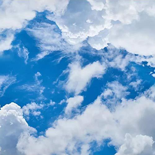 Msrahves Fotomural Vinilo Cielo azul nubes blancas pared dormitorio posters para...