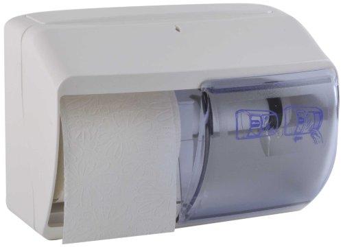 Funny dispenser voor toiletpapier, afsluitbaar, voor 2 gangbare rollen, wit, 1 stuks (1 x 1 stuks)