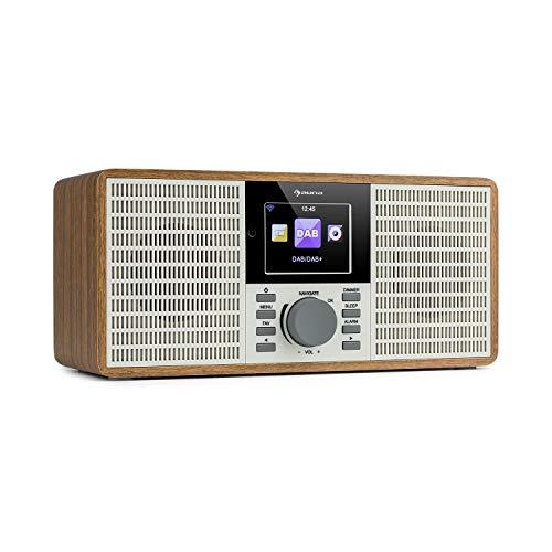 auna IR-260 - Internetradio, Stereo-Sound, DAB+ & UKW Radio, Mediaplayer: Spotify Connect/BT/USB/UPnP/DLNA, 2,8