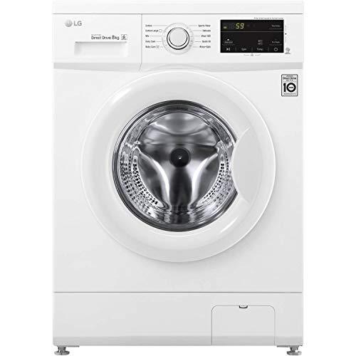 LG F4MT08W 8kg 1400rpm Direct Drive Freestanding Washing Machine 6Motion &...