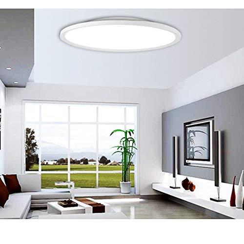 Plafondlamp ultra slim LED-paneel licht Quick installatie plafondinbouwlamp voor woonkamer slaapkamer keuken hal balkon Ø40cm wit