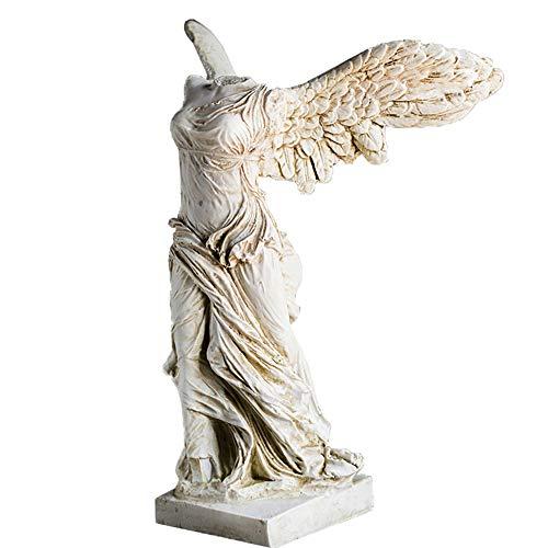 Louvre Diosa De La Victoria Escultura Estatuas,Resina Diosa Griega Casa Decorativos Estatua para El Hogar Oficina Tabla Y Escritorio Colección Figuritas