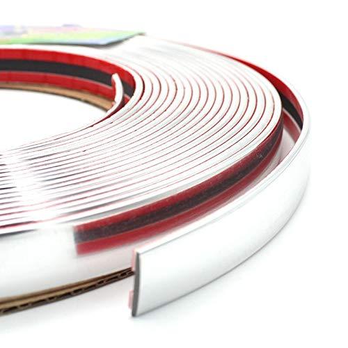 Lorenory bumpers voor auto, 6 m x 4/6/8/10/12/15/18/20/25/30 mm, zilverkleurig, chroom-sierlijst voor autodeur, spiegels, ramen, bumpers
