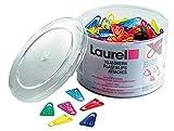 Laurel Plastikklips 25 mm antimagnetisch 500 Stück farblich sortiert