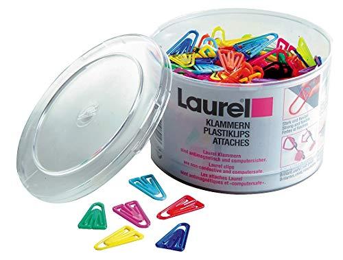 Laurel  126011399  Plastica Clip Plastic Non-magnetizzazione 25mm, Colori Assortiti , Confezione da 500