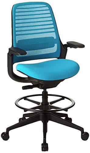 Steelcase Serie 1 Hocker Bürostuhl Modern Blue Jay