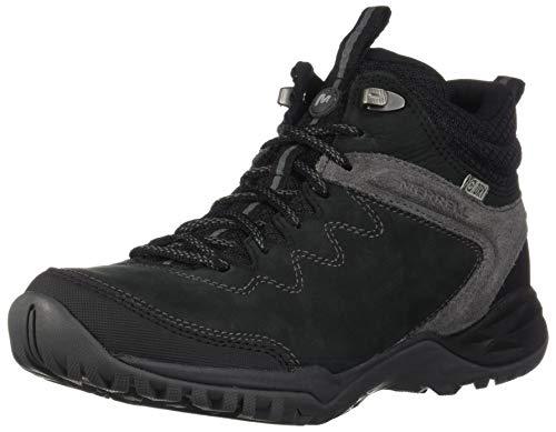 Merrell Siren Traveller Q2 Mid Waterproof, Chaussures de Randonnée Hautes Femme, Noir (Black), 36 EU