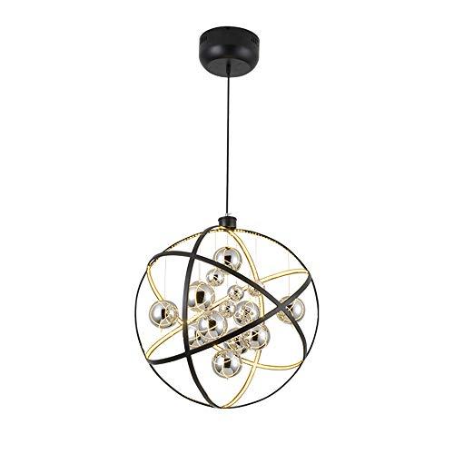 YUI LED-Kronleuchter, Moderne Persönlichkeit Kronleuchter, Kreative Globus Wohnzimmer Esszimmer Lampe Mode Lampe, Galvanisierte Glaskugel Highlight LED-Patch, Warmes Licht, Weißes Licht,Weißeslicht