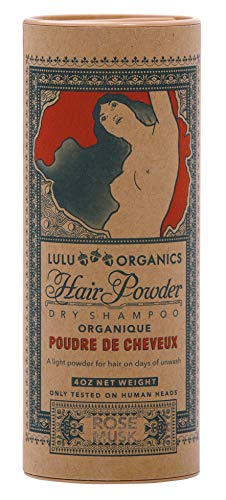 Lulu Organics Rose Musk Hair Powder/Dry Shampoo 4 oz
