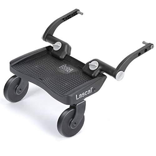 Lascal ラスカル バギーボード 静音ラバータイヤとサスペンションで快適乗り心地 上の子も下の子も一度にお迎えできる 総輸入販売元 グレー