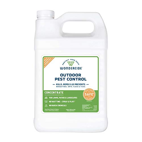 Wondercide - EcoTreat Outdoor Pest Control Spray Concentrate with Natural Essential Oils - Mosquito, Ant, Roach, and Insect Killer, Treatment, and Repellent - Safe for Pets, Plants, Kids - 1 Gallon