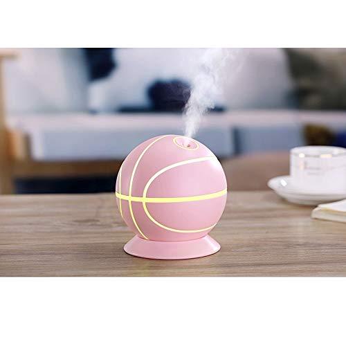 Raxinbang Humidificadores Humidificador De Baloncesto Creative Colorful Night Light Home Mute Desktop Student Mini USB Humidificador (Color : Pink)